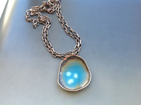 Enameled copper with azure blue.....